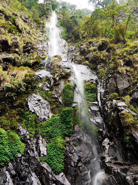 Curug Siliwangi, bottom up view