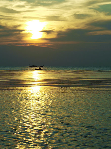Belitung Island - Sunset Fisherman at Bukit Berahu beach