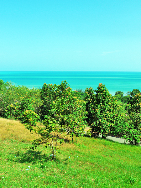 Belitung Island - Bukit Samak, a view to the sea