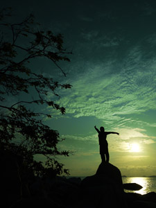 Sunrise pulau Lengkuas
