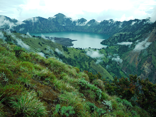 Rinjani National Park - Segara Anak Lake, View From Plawangan Sembalun