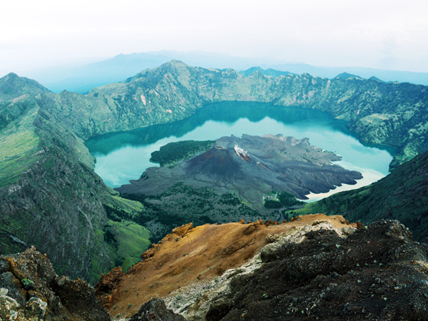 Rinjani National Park - Segara Anak Lake and Baru Jari Mount, View From Anjani Crater