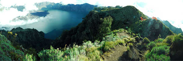 Rinjani National Park - Segara Anak Lake, View From Plawangan Senaru