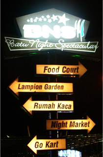 Batu Night Spectacular , The Signs
