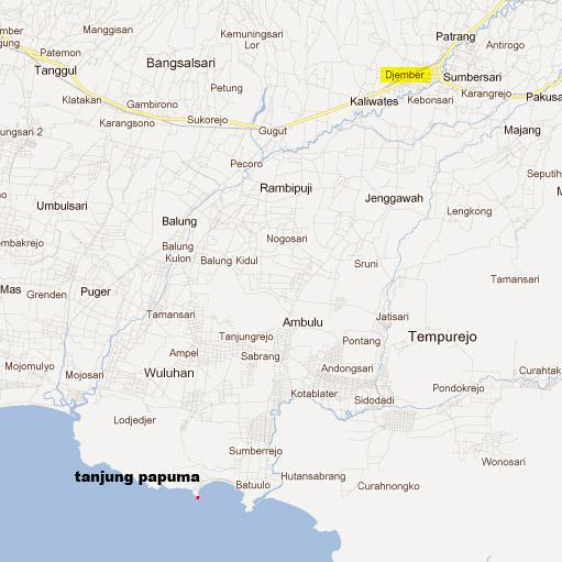 Peta Tanjung Papuma
