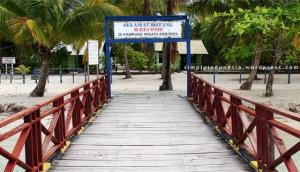 Gapura Selamat Datang Kampung Wisata Arborek