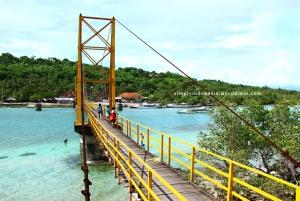 Jembatan penghubung Lembongan-Ceningan