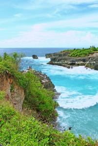 Ceningan Jumping Cliff dari sisi lain