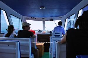 Interior speedboat Lembongan Sugriwa Express