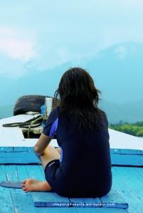 Menikmati perjalanan menuju Pulau Menjangan