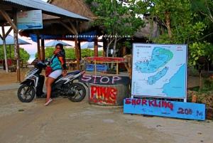 Ujung jalan utama Nusa Lembongan - Hutan Mangrove