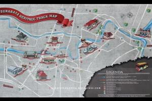 Peta Surabaya Heritage Track - Depan