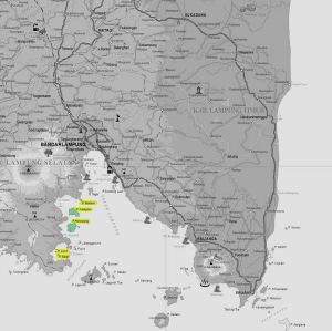 Peta Pulau Pahawang (Sumber - Bakosurtanal)