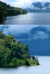 Lokasi 'Rumah' Penduduk Yang Mendiami Danau Gunung Tujuh