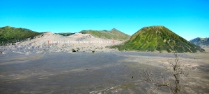 Panoramic view Bromo-Batok