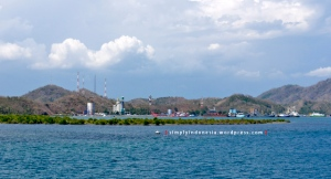 Panorama laut di sekitar Pelabuhan Lembar Lombok