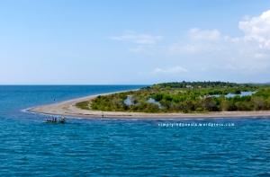 Pantai di sekitar Pelabuhan Lembar Lombok