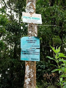Plang Pintu Rimba - Ekspedisi Bukit Barisan Kopassus-Kostrad