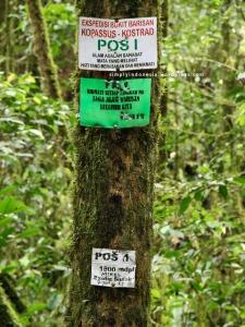 Plang Pos 1 (1,800 mdpl) - Ekspedisi Bukit Barisan Kopassus-Kostrad