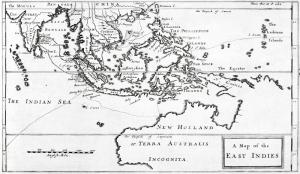 Peta Penjelajahan William Dampier di Hindia Timur