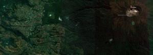 Letak Desa Argamukti relatif terhadap kawah Gunung Ciremai
