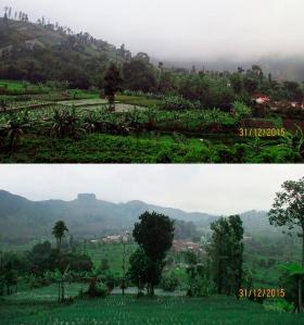 Pemandangan alam menuju Basecamp Apuy 3