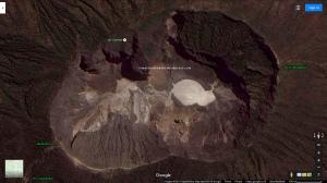 Penampakan kawah Gunung Ciremai dilihat dari satelit