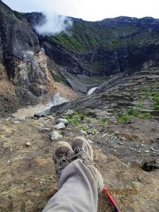 View ke arah kawah Gunung Ciremai