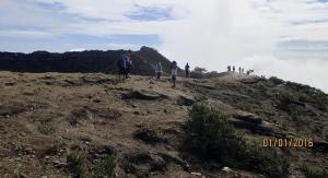 View puncak Gunung Ciremai